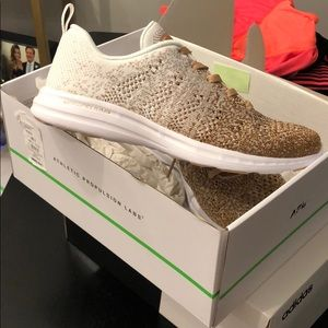 APL rose gold 7.5 techloom pro sneaker NIB